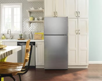 A Top Freezer Refrigerator Has The Freezer Compartment Situated Above The  Refrigerator At Eye Level With A Capacity Ranging Up To 22 Cubic Feet.