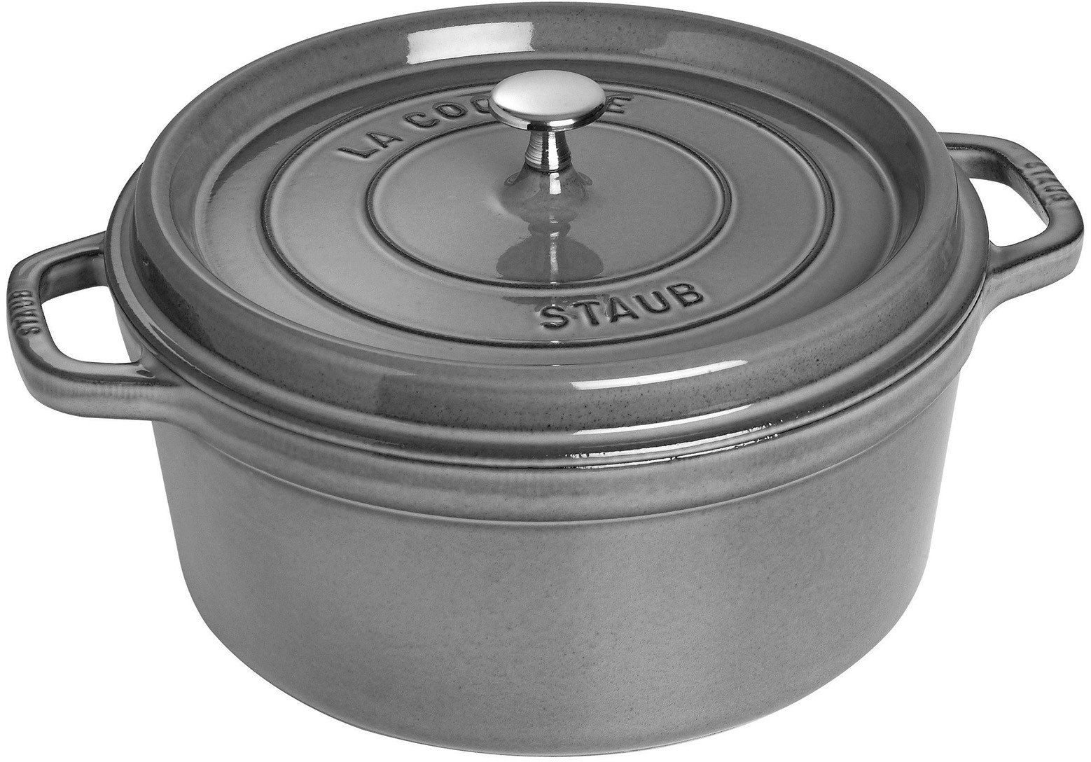 staub 1102818 7 quart cast iron round cocotte with heavyweight lid induction suitable oven. Black Bedroom Furniture Sets. Home Design Ideas