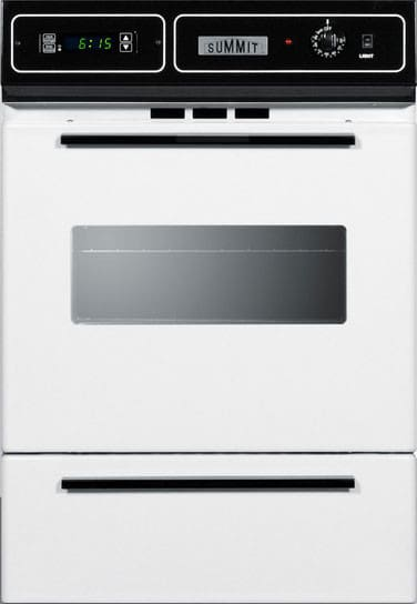Summit Wtm7212kw 24 Inch Single Gas Wall Oven With
