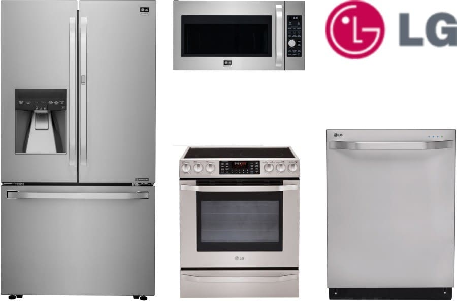 lg lgs4ssfd2 lg 4 piece kitchen appliances package with fren