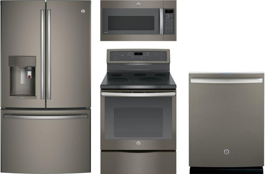 Ge Gereramwdw98 4 Piece Kitchen Appliances Package With