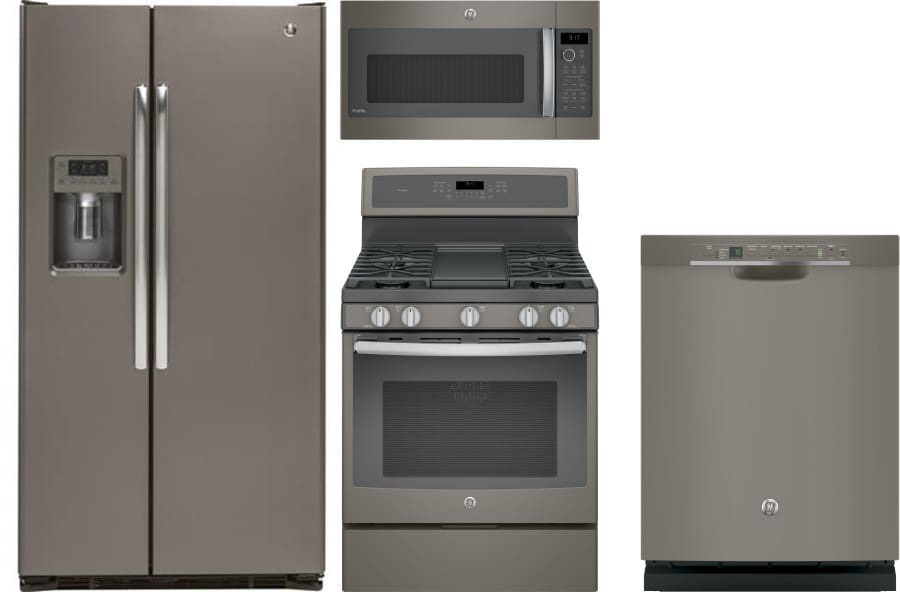 ge gereradwmw295 4 piece kitchen appliances package with