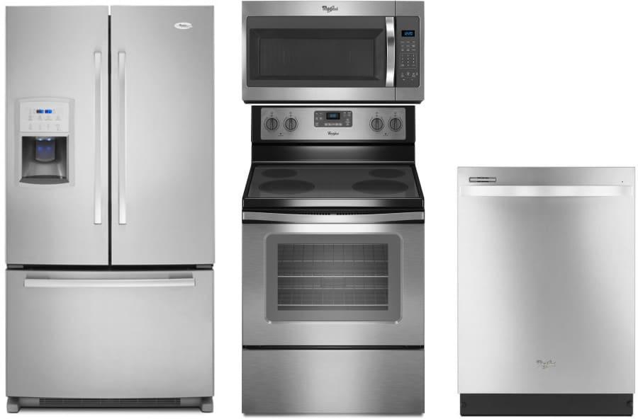 Whirlpool Wpreradwmw134 4 Piece Kitchen Appliances Package