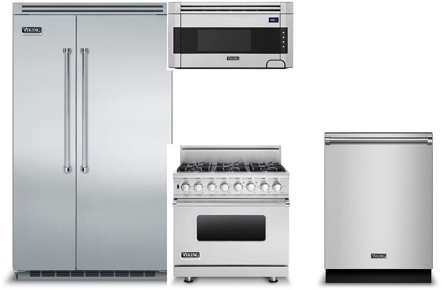 viking vireradwmw17 viking 4 piece kitchen appliances