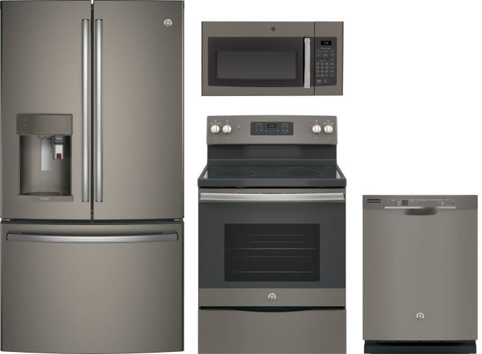 Ge Gereradwmw1301 4 Piece Kitchen Appliances Package With