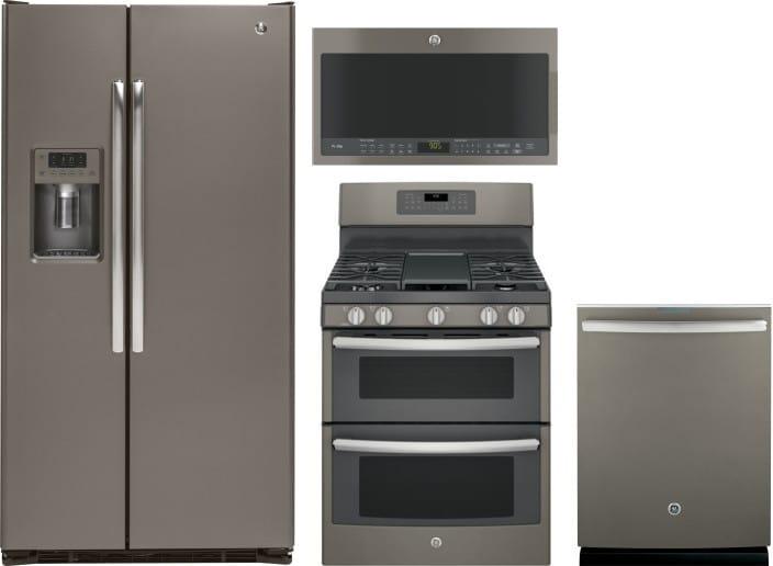 Ge Gereradwmw2024 4 Piece Kitchen Appliances Package With