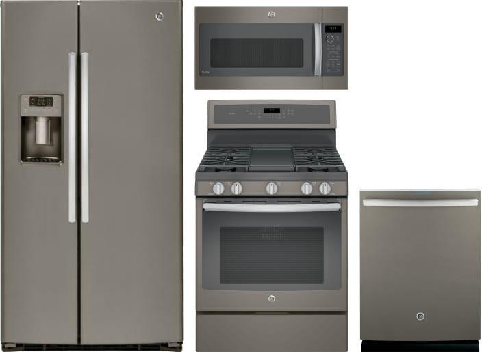 GE GERERADWMW2068 4 Piece Kitchen Appliances Package with