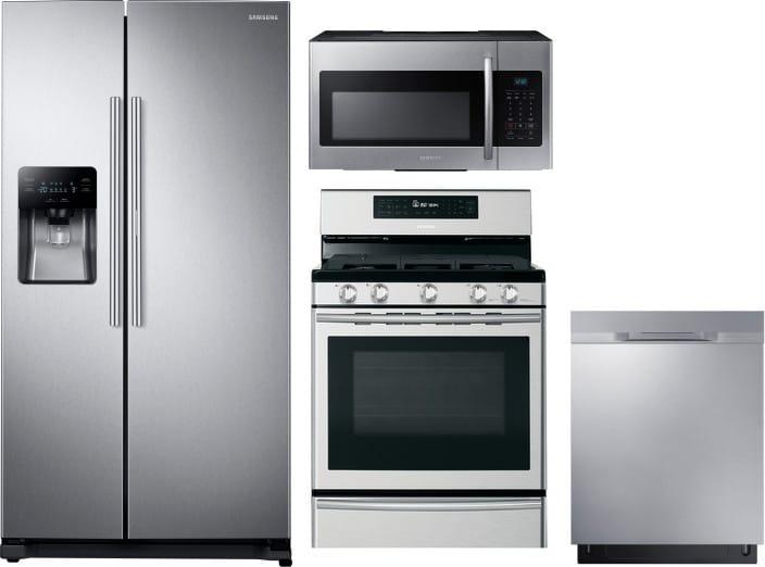 Samsung SARERADWMW590 4 Piece Kitchen Appliances Package