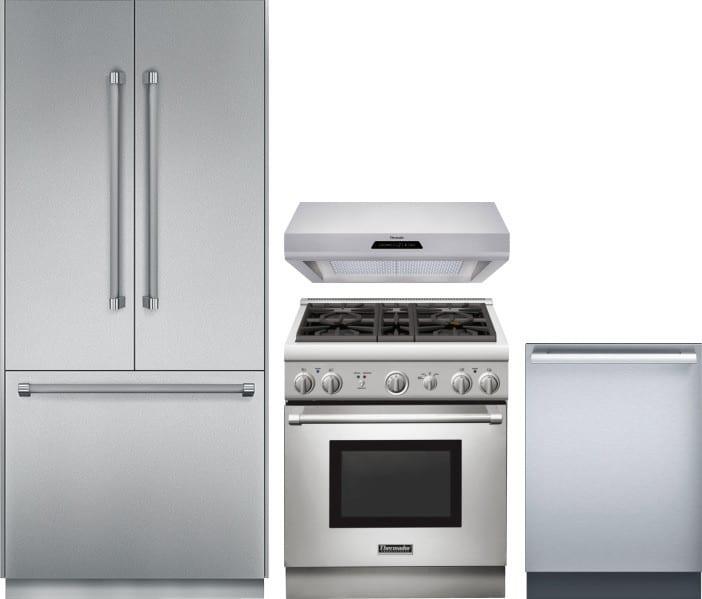 Thermador THRERADWRH133 4 Piece Kitchen Appliances Package