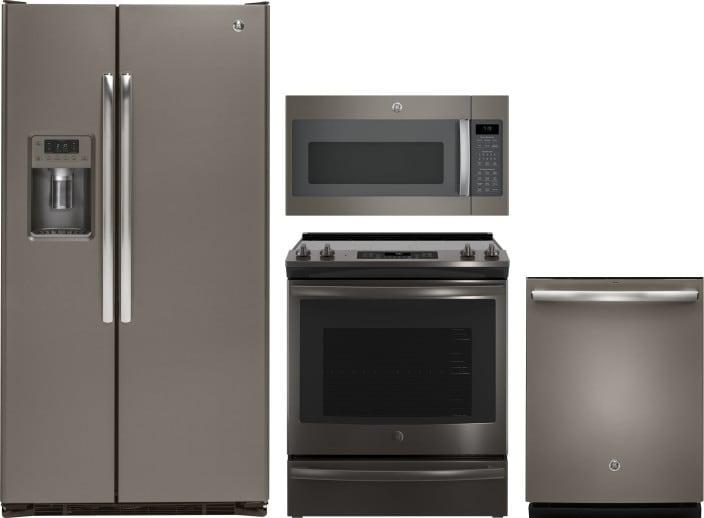 Ge Gereradwmw2599 4 Piece Kitchen Appliances Package With