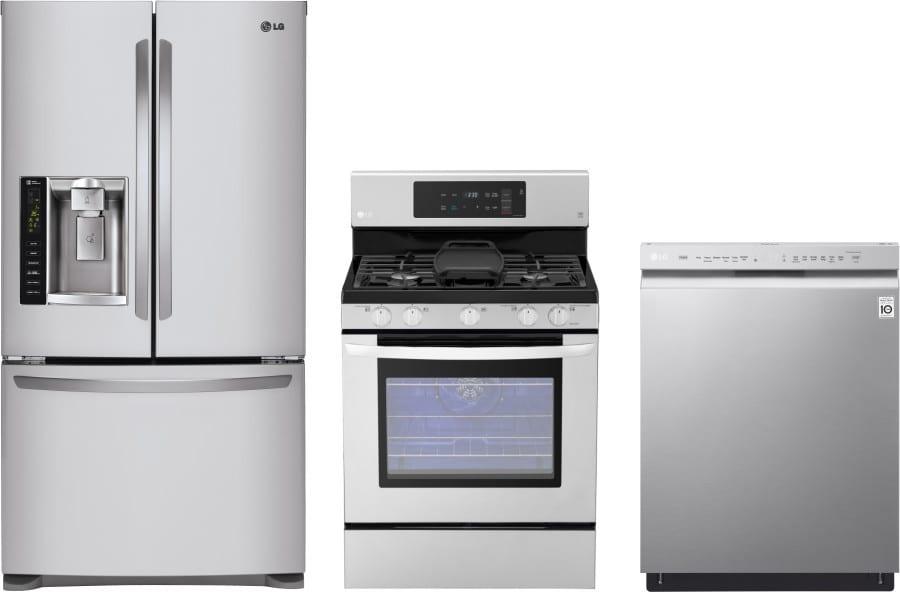 Lg lgreradw59 3 piece kitchen appliances package with - 3 piece kitchen appliance package ...