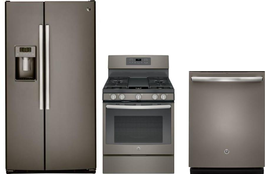 Ge Gereradw194 3 Piece Kitchen Appliances Package With