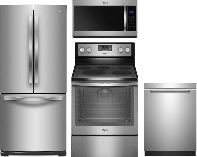 Electric Kitchen Appliance Packages ~ Whirlpool wpreradwmw piece kitchen appliances