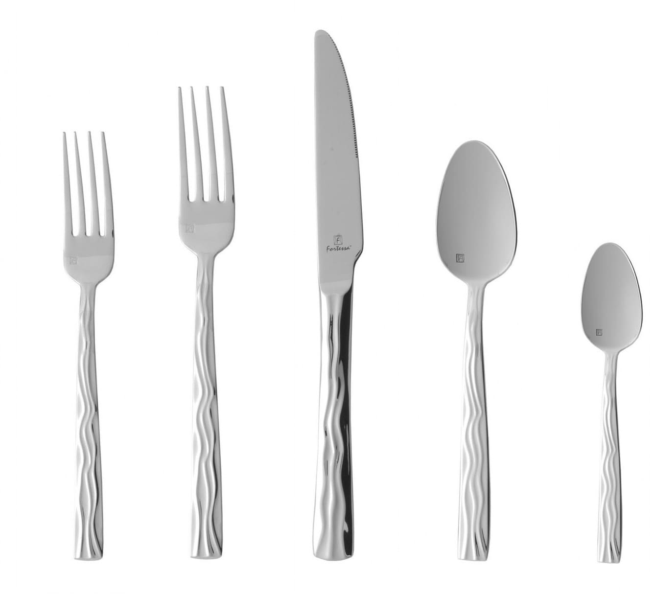 Fortessa 5pps91020pc dorada stainless steel 20 piece flatware set with heavy gauge stainless - Heavy stainless steel flatware ...