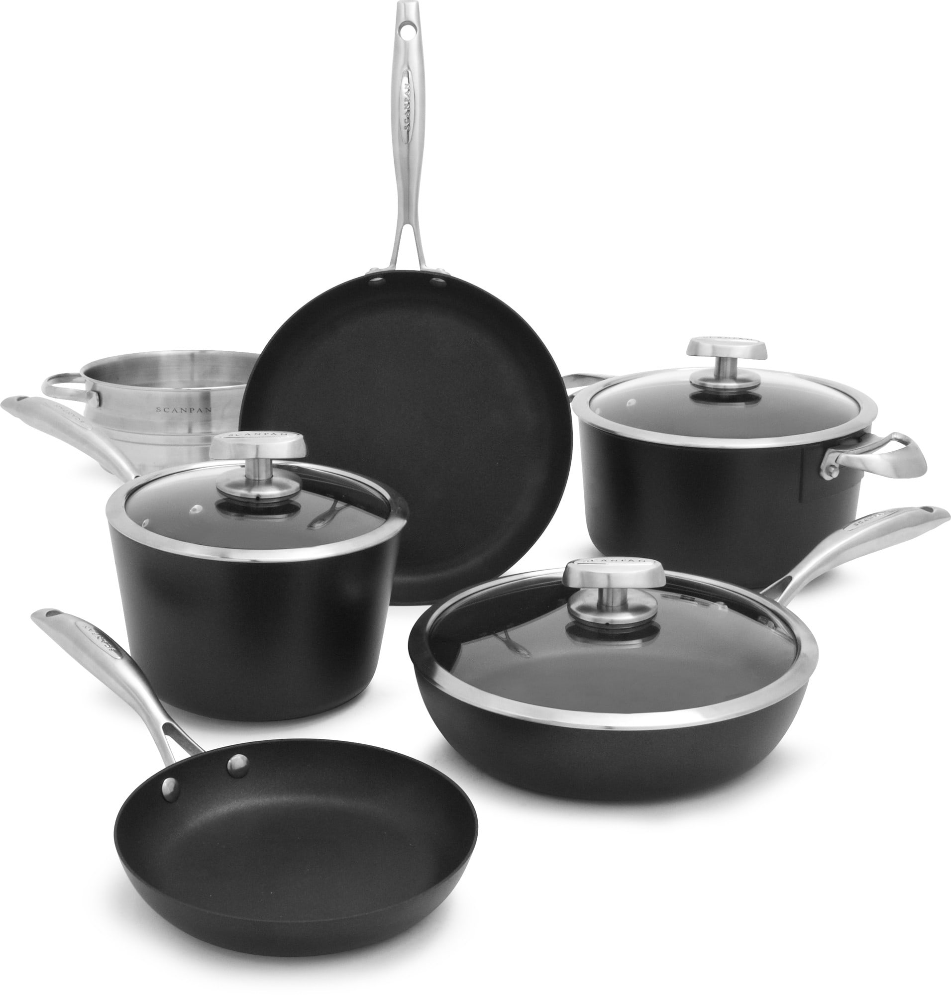 Scanpan 68000900 Pro Iq 9 Piece Cookware Set With Ceramic