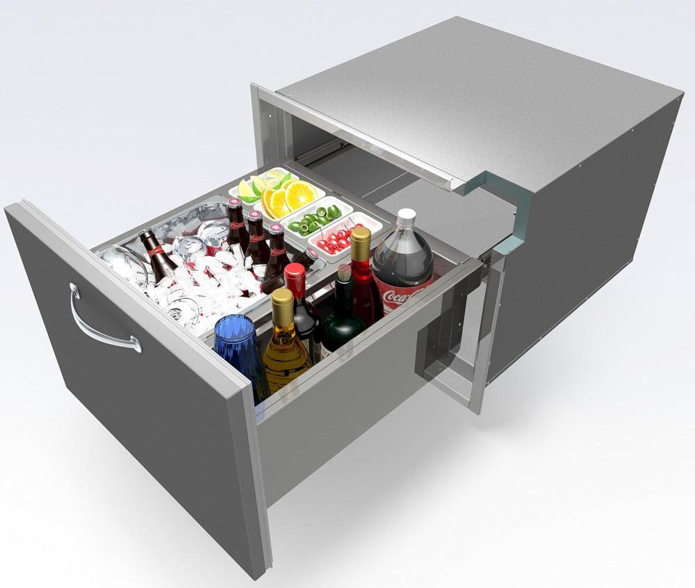 Alfresco Abid 26 Inch Insulated Undercounter Ice Drawer