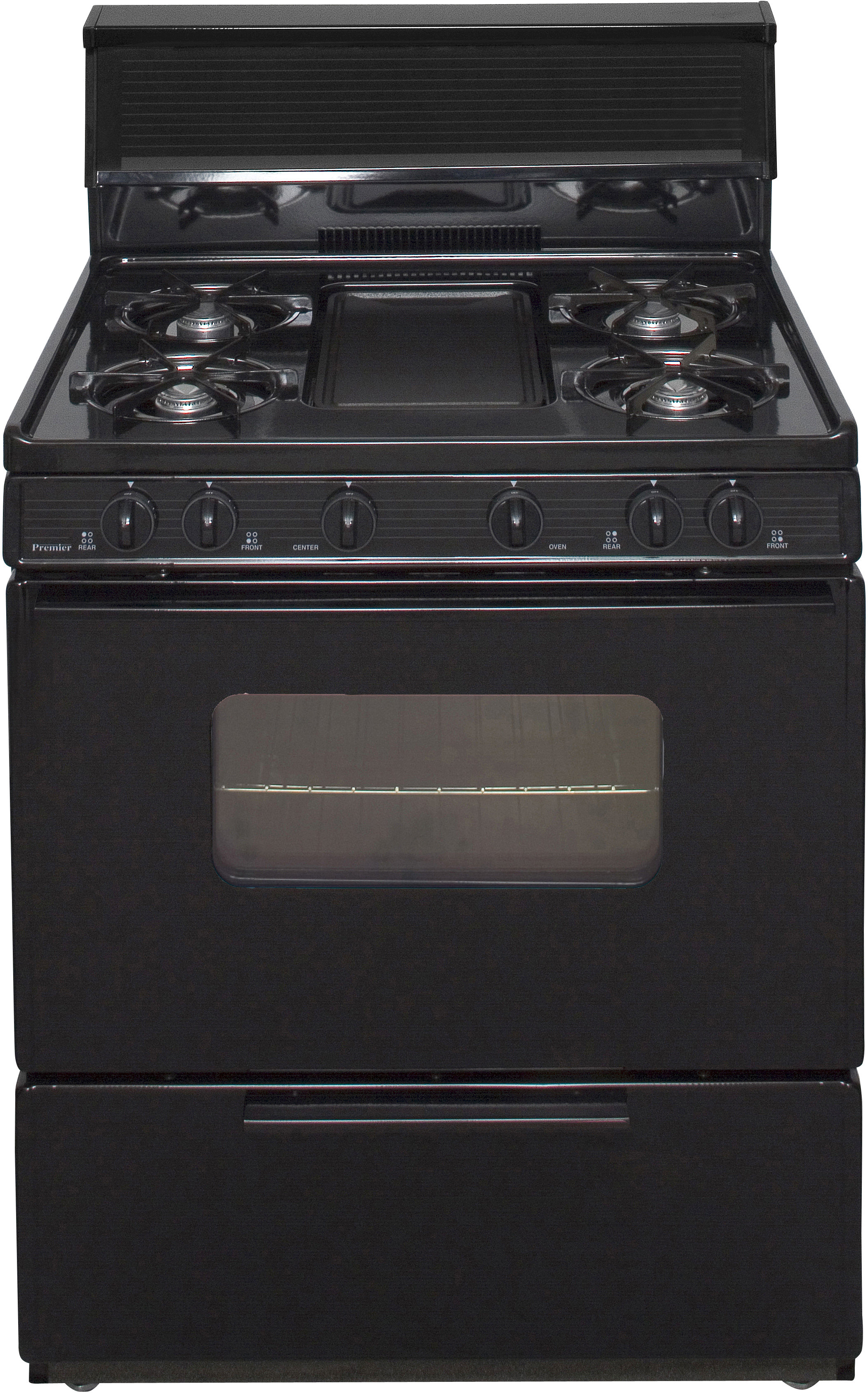 Premier Bfk5s9bp 30 Inch Freestanding Gas Range With 5 Open Burners