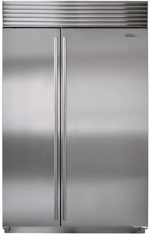 bissth   built  side  side refrigerator   cu ft capacity dual