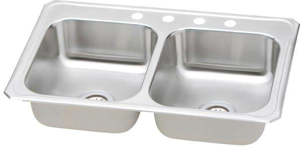 Elkay CR33211 33 Inch Top Mount Double Bowl Stainless Steel Sink ...