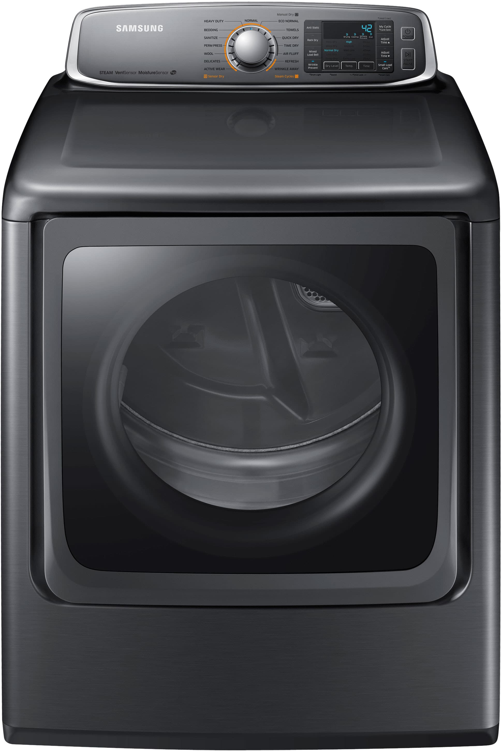 samsung dv56h9000ep 30 inch 95 cu ft electric dryer with 15 dry cycles 5 temperature settings steam vent sensor sanitize cycle wrinkle prevent