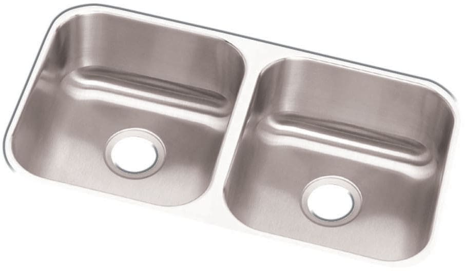 Elkay DXUH3118 32 Inch Undermount Double Bowl Stainless Steel Sink ...