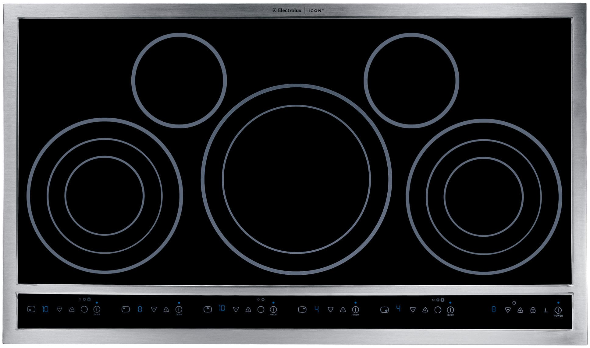 electrolux e36ec70fss 36 inch dropin electric cooktop with 5 flexible radiant elements ceramic glass surface customset touch controls keep warm setting - Electric Cooktop