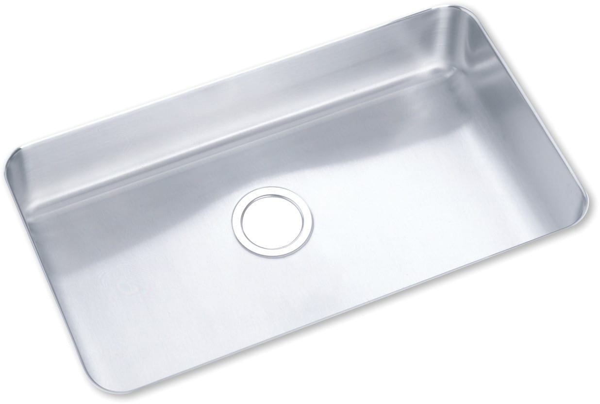 Elkay Poduh2816 30 1 2 Inch Undermount Outdoor Stainless Steel Sink With 7 Bowl Depth 18 Gauge Sound Guard And Rous Satin Finish