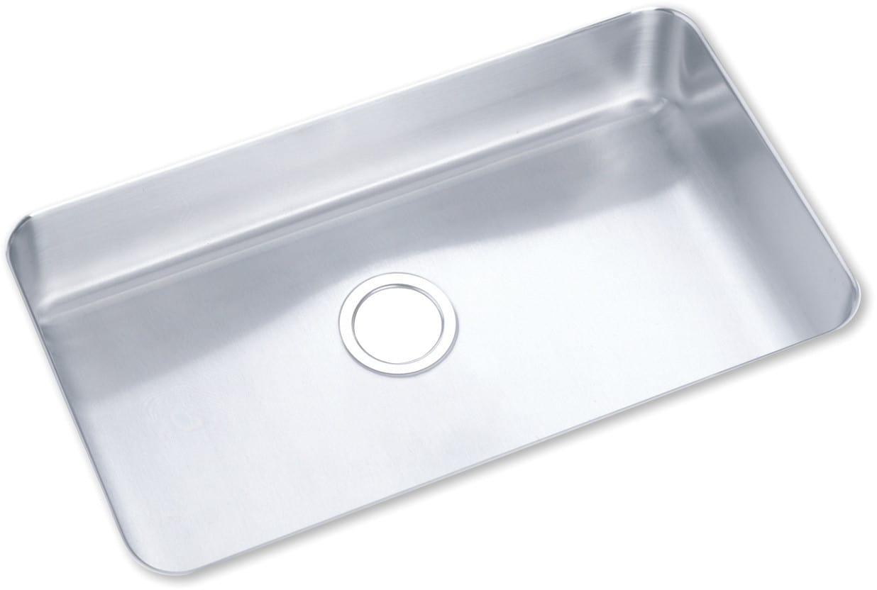 Elkay ELU2816 28 Inch Undermount Single Bowl Stainless Steel Sink ...