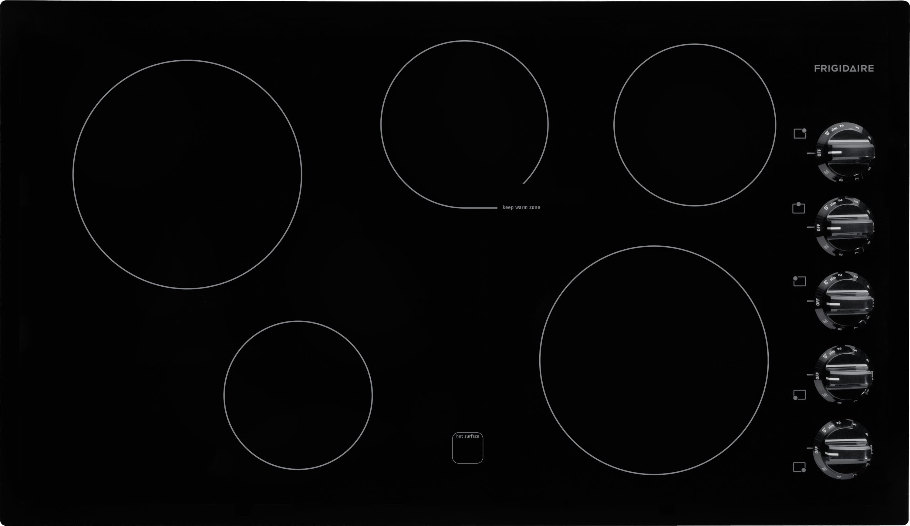 Frigidaire Ffec3624pb 36 Inch Electric Cooktop With 5