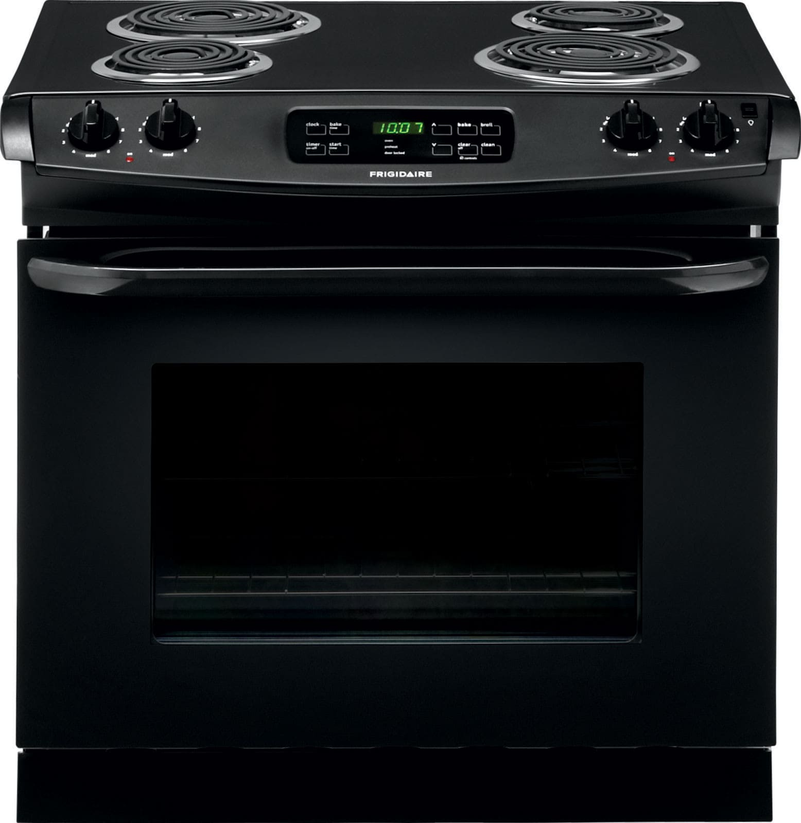 Frigidaire Ffed3015pb 30 Inch Drop In Electric Range With Multiple Broil Options And Ready Select Controls Self Clean 4 Coil Elements 6 Cu Ft