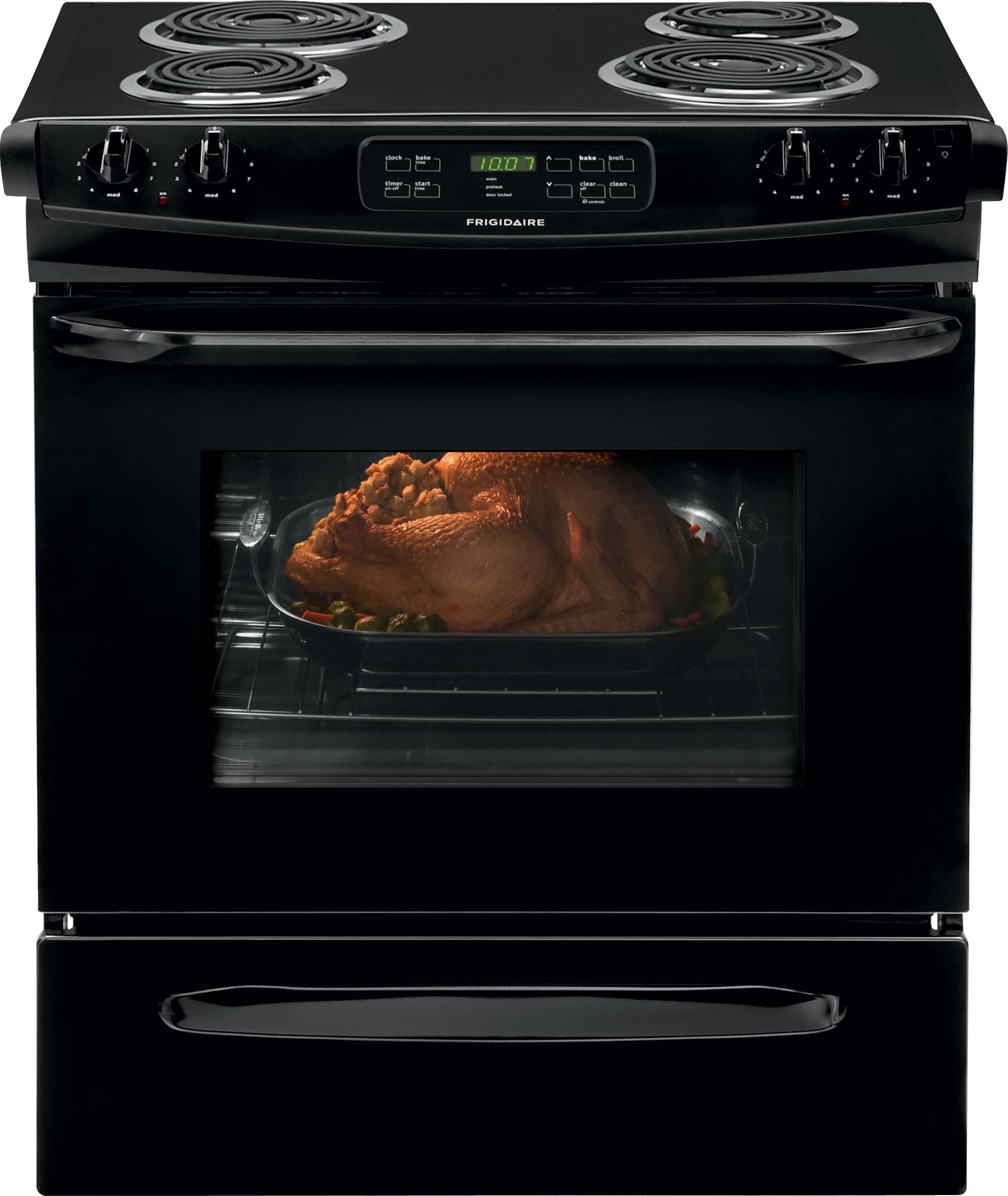 Frigidaire FFES3015PB 30 Inch Slide-In Electric Range with Multiple Broil  Options, Self-Clean, Storage Drawer, 4.6 cu. ft. Oven, 4 Coil Elements and  ADA ...