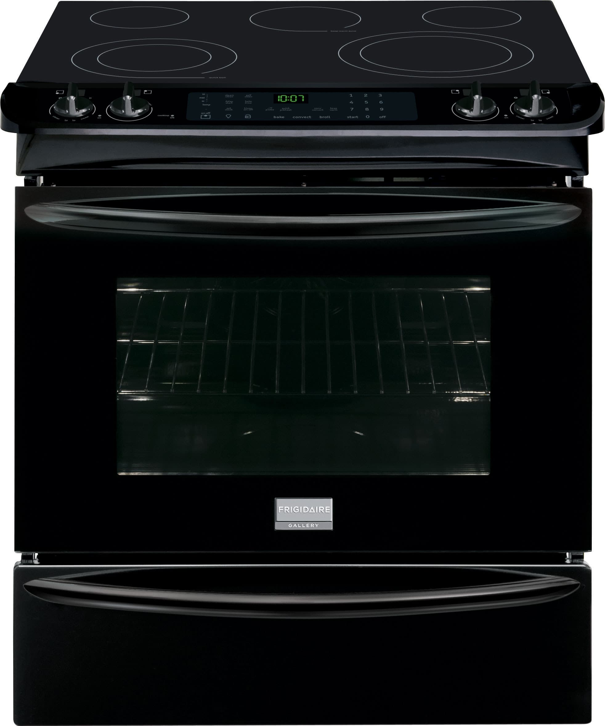 White apron gainesville fl - Frigidaire Fges3065pb 30 Inch Slide In Electric Range With True Convection Temperature Probe Steam Self Clean 5 Heating Elements Spacewise Elements