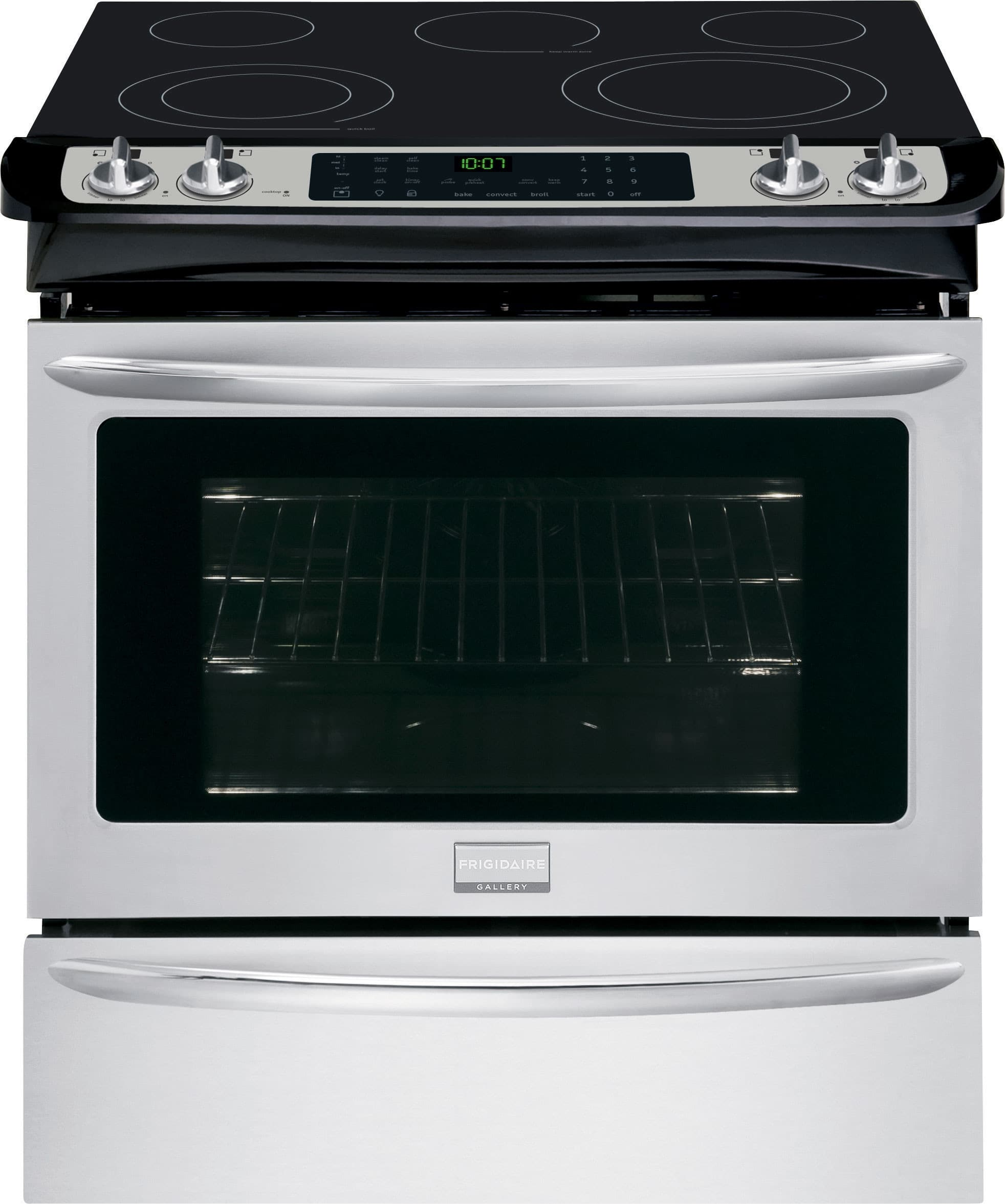 White apron gainesville fl - Frigidaire Fges3065pf 30 Inch Slide In Electric Range With True Convection Temperature Probe Steam Self Clean 5 Heating Elements Spacewise Elements