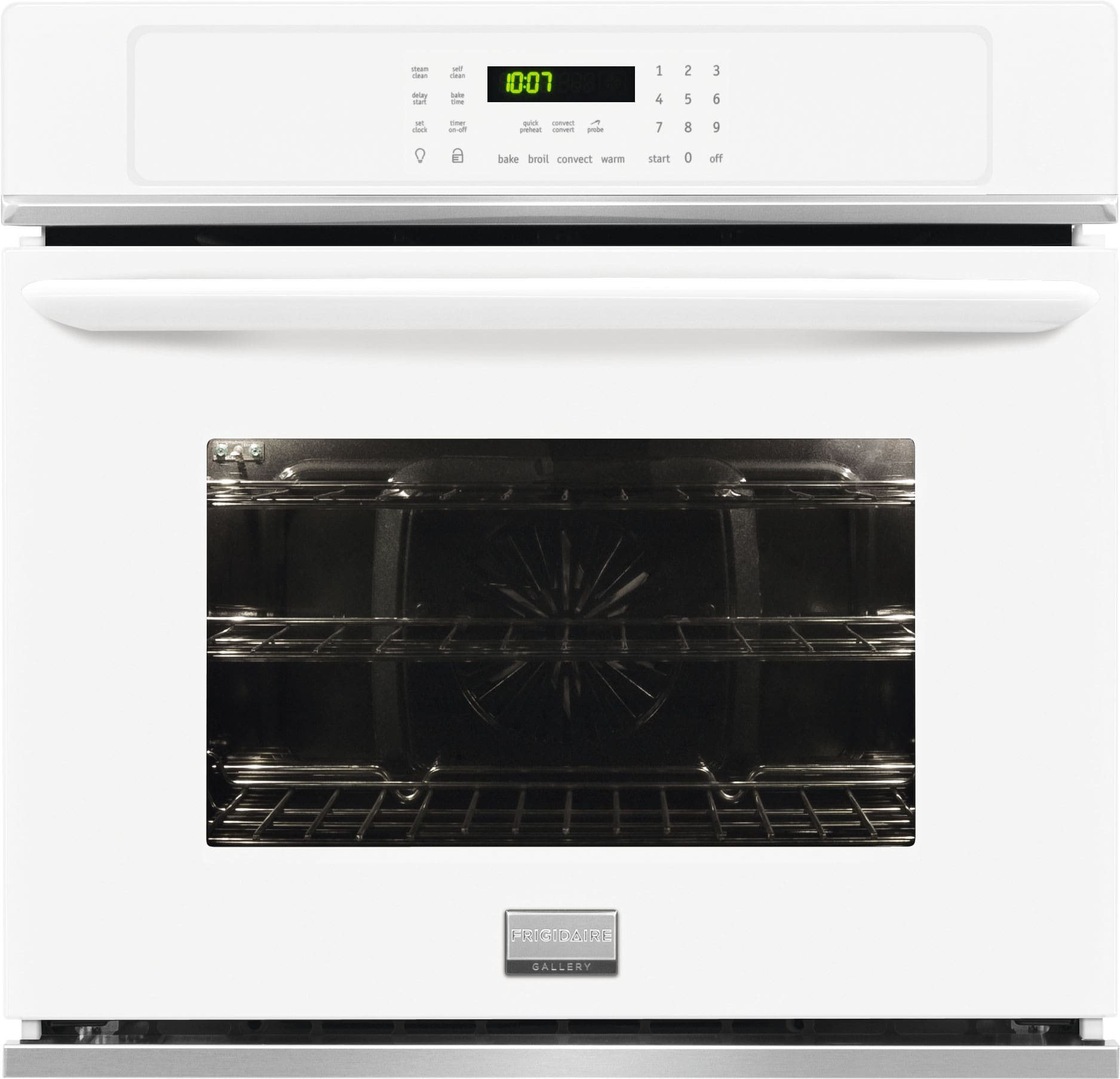 Frigidaire FGEW2765PW 27 Inch Single Electric Wall Oven with 3.8 ...