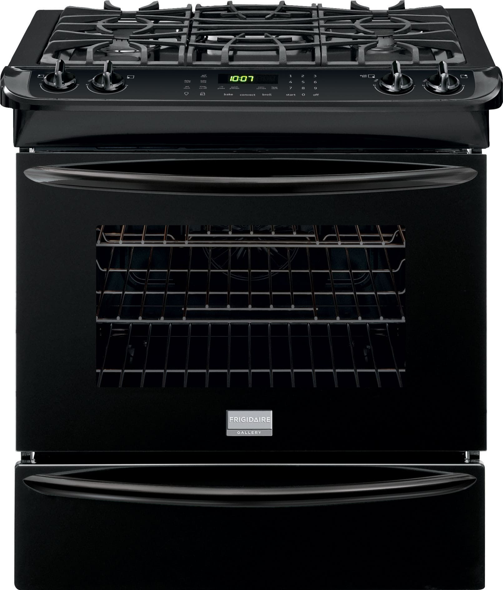 Frigidaire fggs3065pb 30 inch slide in gas range with true convection quick preheat self clean - Clean gas range keep looking new ...
