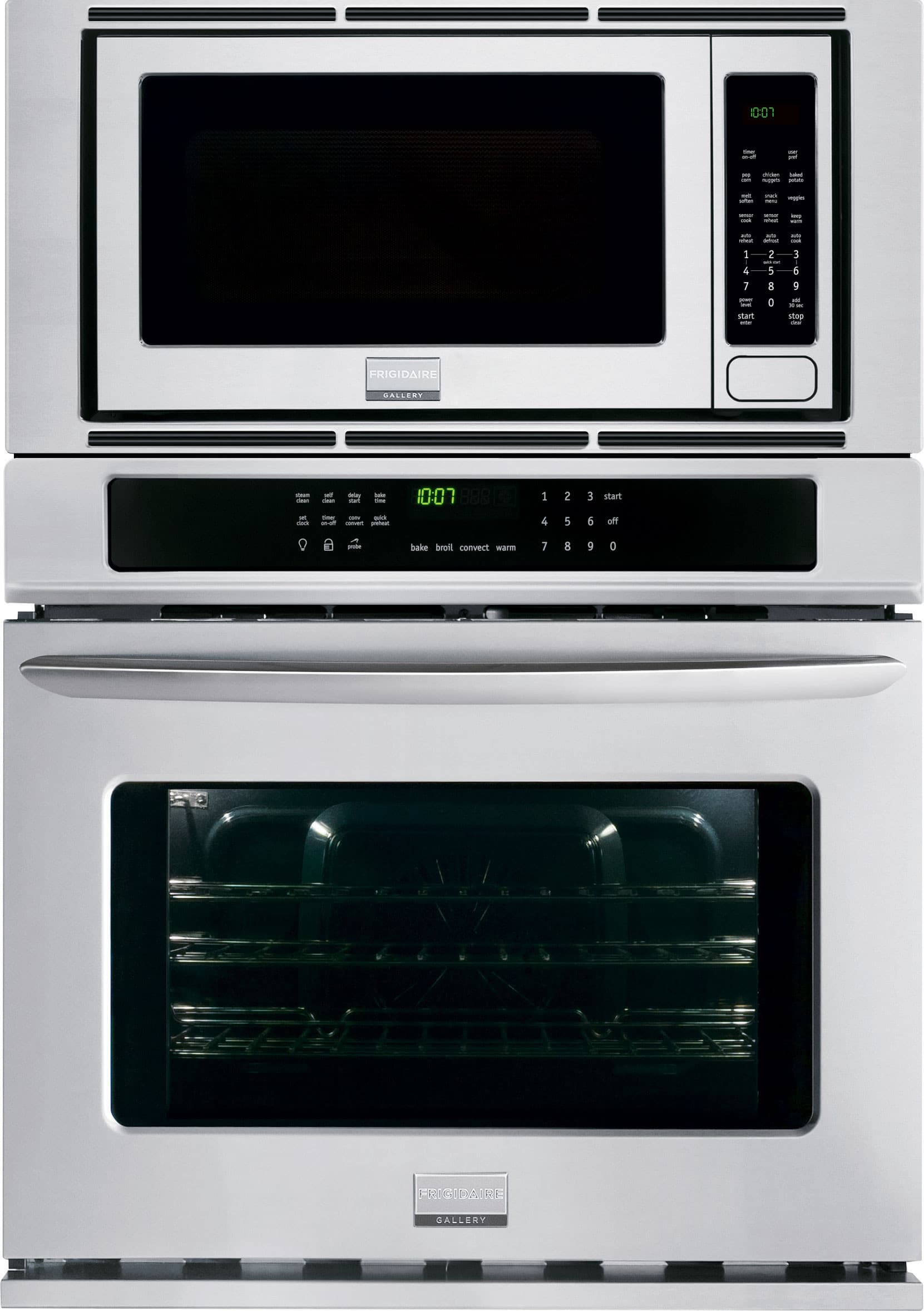 Frigidaire Fgmc3065pf 30 Inch Combination Wall Oven With 4 6 Cu Ft True Convection 2 0 Microwave Steam Clean Quick Preheat