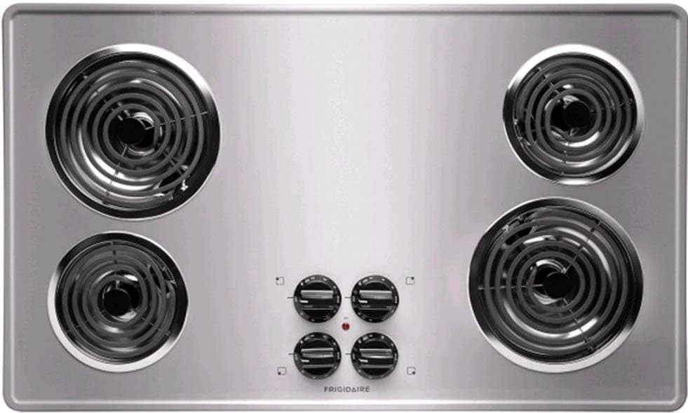 frigidaire ffec3605ls 36 inch electric cooktop with 4 coil heating elements brushed chrome. Black Bedroom Furniture Sets. Home Design Ideas