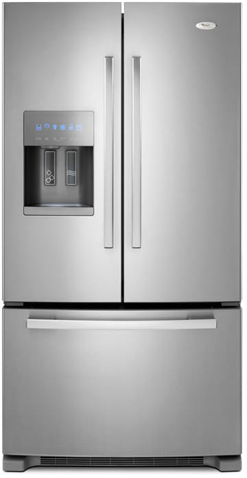whirlpool gi6fary 25.5 cu. ft. french door refrigerator with ...