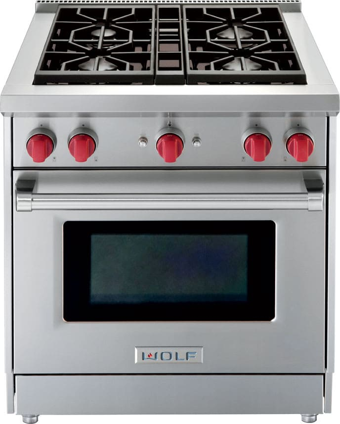 Wolf Gr304 30 Inch Pro Style Gas Range With 4 4 Cu Ft