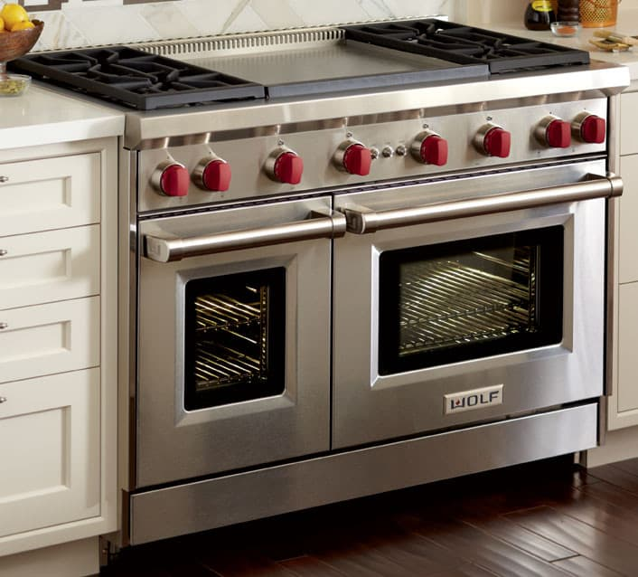 Wolf Gr484dglp 48 Inch Pro Style Gas Range With 4 Dual