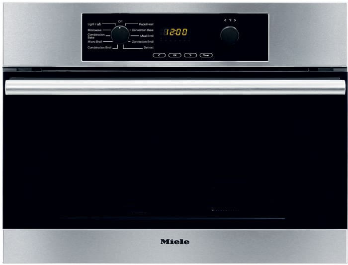 Miele H4042bmss 24 Inch Speed Wall Oven With True European