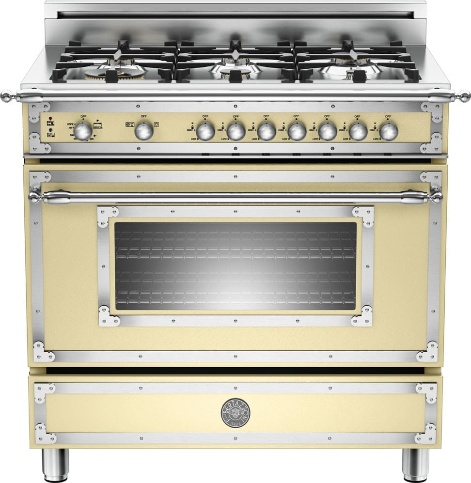 Bertazzoni Her366gascrlp 36 Inch Traditional Style Gas