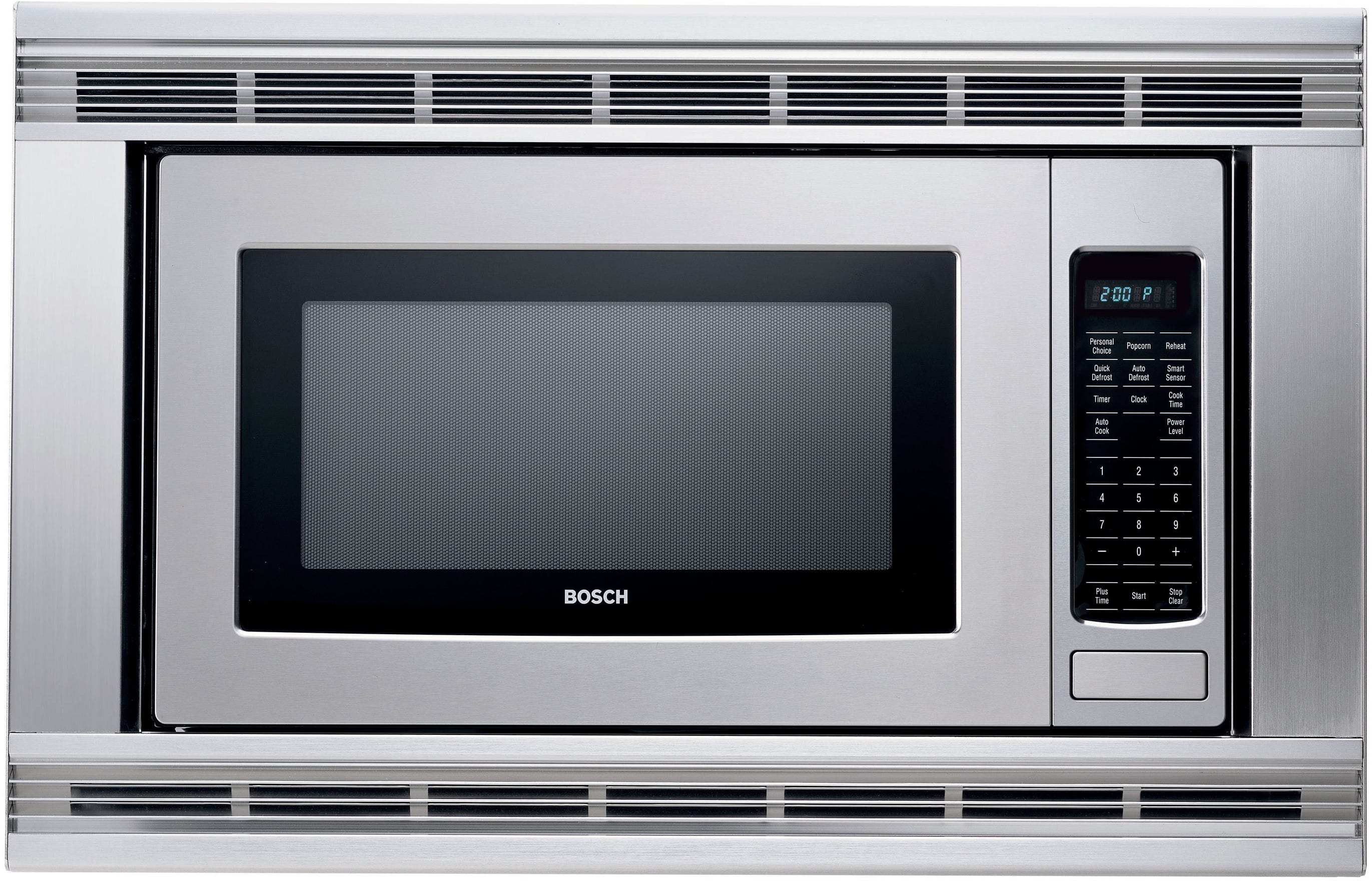 Bosch hmb405 2 1 cu ft built in microwave oven with for Microwave ovens built in with trim kit