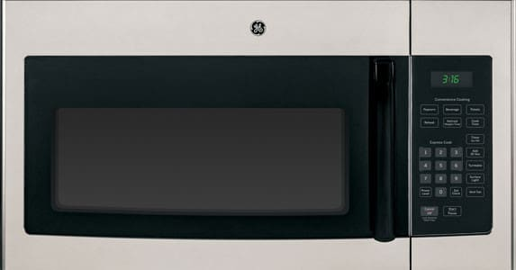 Ge Jnm3161mfsa 1 6 Cu Ft Over The Range Microwave Oven With 1 000 Cooking Watts Auto And Time