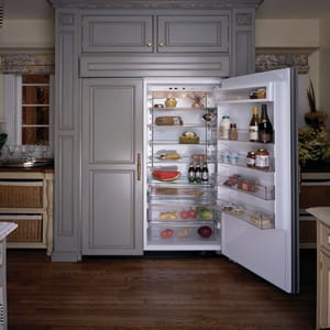 thermador 48 refrigerator. thermador kbuit4870a - kitchen view of custom panel 48 refrigerator aj madison