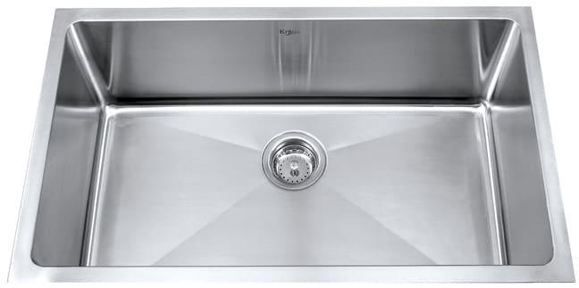 Kraus Kitchen Sink Series KHU10030   Single Bowl Stainless Steel Sink ...