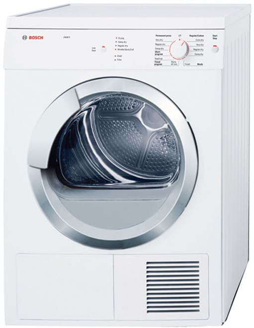 Bosch WTV76100US 24 Inch Electric Dryer with 3.9 cu. ft. Capacity, 9 ...