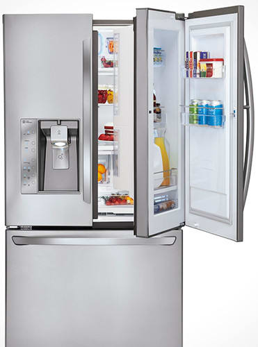 Lg Lfx31945st 305 Cu Ft French Door Refrigerator With Spill
