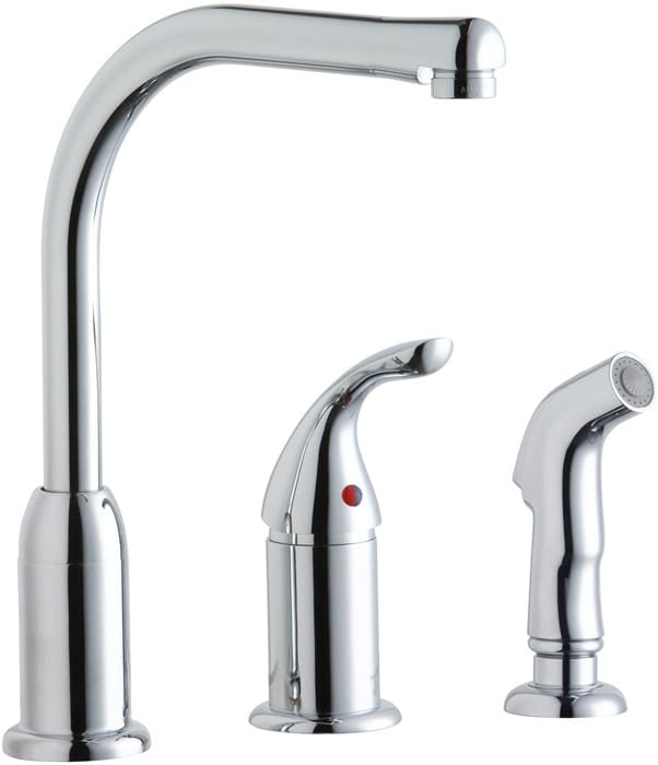 Elkay Lk3001cr Single Lever Cast Spout Kitchen Faucet With