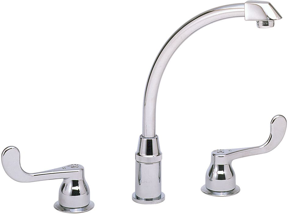 Elkay Lklfd2439 Double Lever Cast Spout Kitchen Faucet With 8 Inch